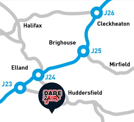 Dare 2 Air Map